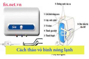 cách tháo vỏ bình nóng lạnh